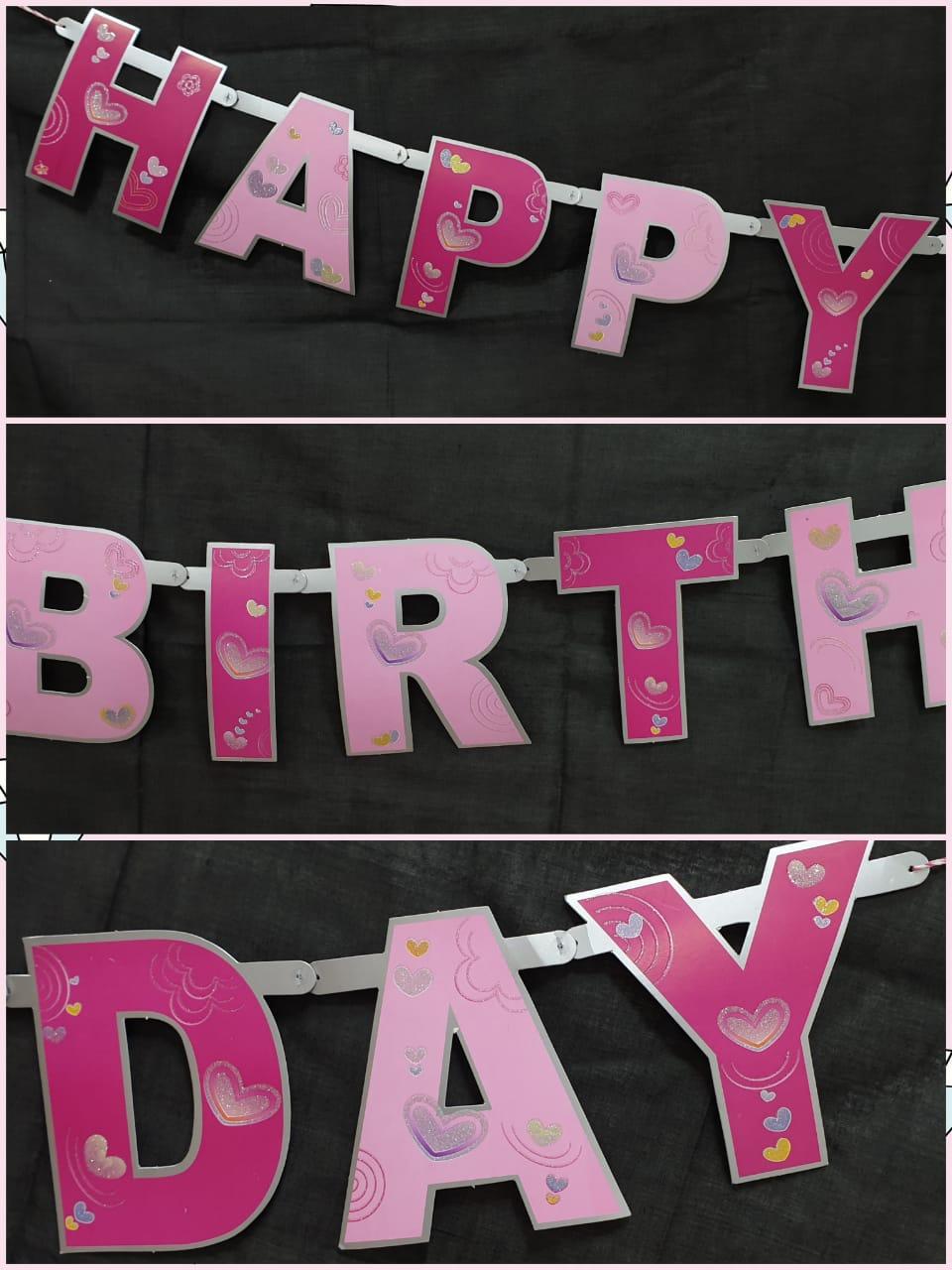Birthday Glitter Banner