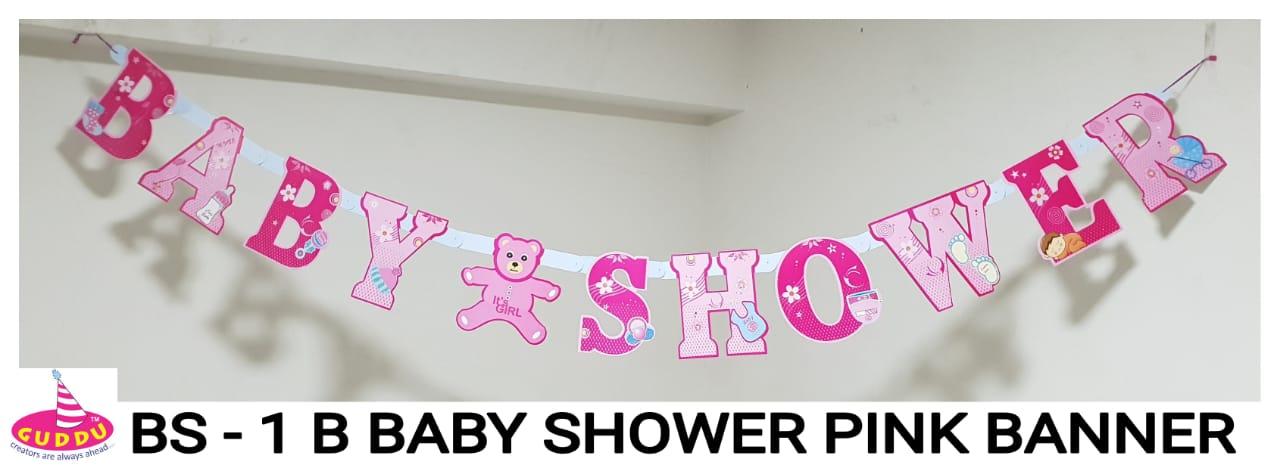 Baby Shower Pink Banner